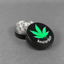 Grinder Aluminium 'Amsterdam Leaf'