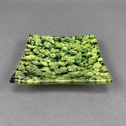 Glass Mini Rolling Tray 'Buds'