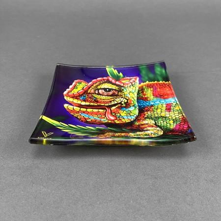 Glass Mini Rolling Tray 'Chameleon'