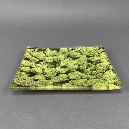 Glass Rolling Tray 'Buds'
