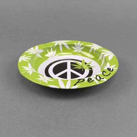 Aschenbecher Metall Peace