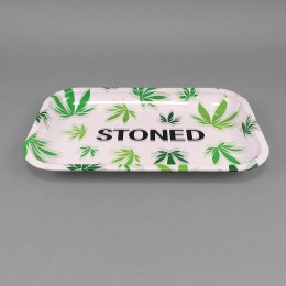 Rolling Tray 'Stoned Blurry Leaf'