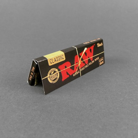 Papers RAW Black 1 1/4 Size