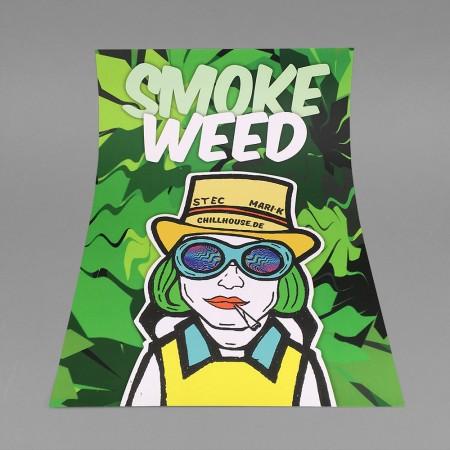 CH Poster 'SMOKE WEED WONKA'