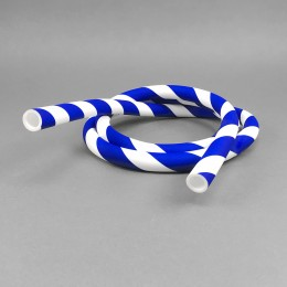 Silikonschlauch Blue Candy Cane