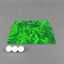 Alu Zipper Bag Green Leaves