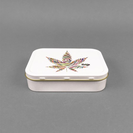 Metall Box 'White Leaf'