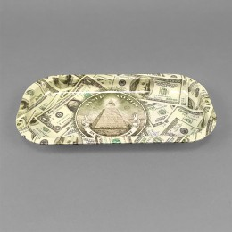 Rolling Tray 'In Weed we trust - Dollar'