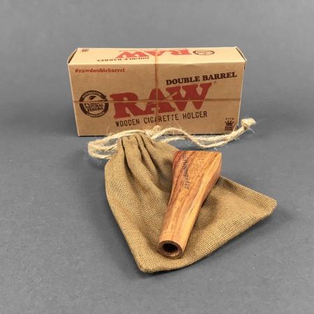 RAW Double Barrel Wooden Spliff Holder