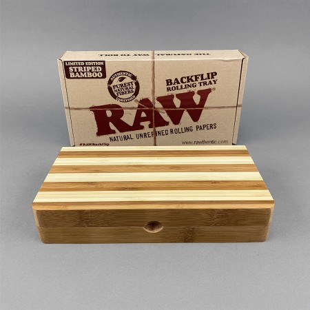 RAW Bamboo Back Flip Rolling Tray