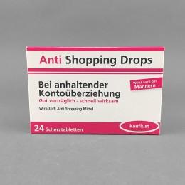 Scherztabletten - Anti Shopping Drops
