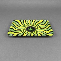Rolling Tray 'Jamaica Waves' small