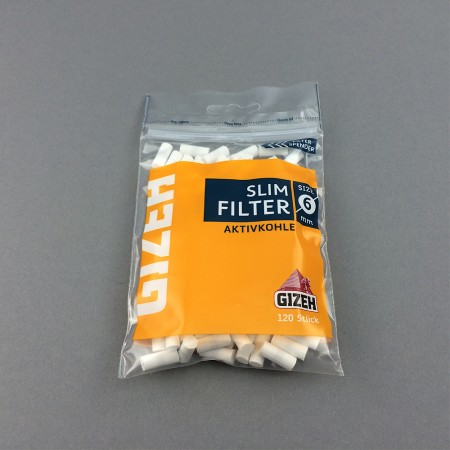 Gizeh Slim Filter Aktivkohle 120 Stück