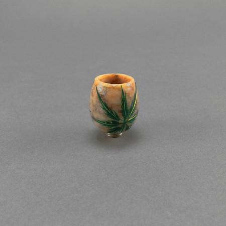 Kopf aus Stein (5) klein, bemalt
