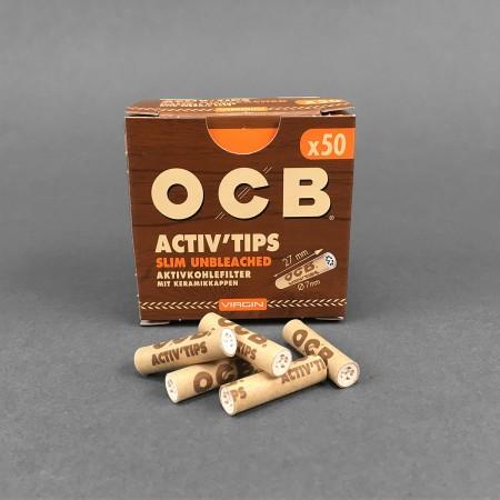 OCB VIRGIN ACTIV Tips Slim, 50er