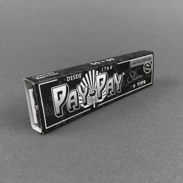 Papers Pay-Pay Black KS Slim + Tips