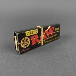 Papers RAW Black Connoisseur 1 1/4 Size