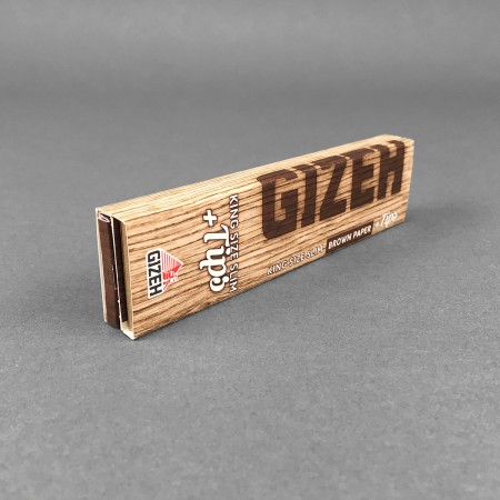 Papers Gizeh BROWN King Size Slim + Tips