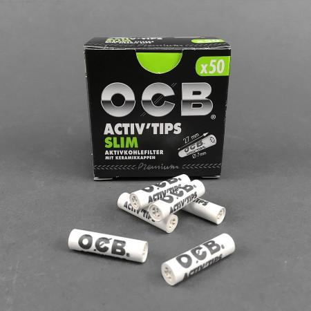OCB ACTIV Tips Slim, 50er