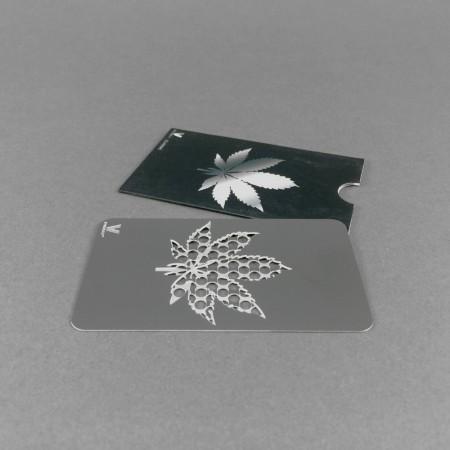 """Grindercard """"Leaf"""" in Scheckkartengröße"""