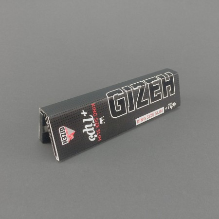 Gizeh Black King Size Slim Papers  + Tips