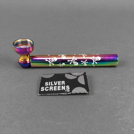 Purpfeife Glas/Metall 'Rainbow'