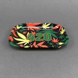 Rolling Tray '420 Rasta' small