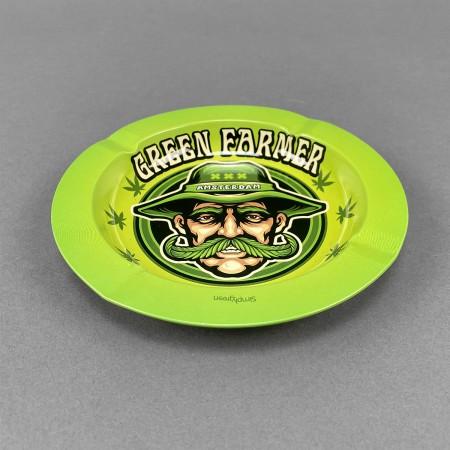 Aschenbecher Metall Green Farmer