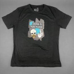 T-Shirt 'Corona du Hurensohn' Men M