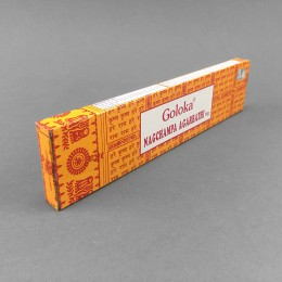 Goloka Nag Champa Incense Sticks - Yellow (16g)