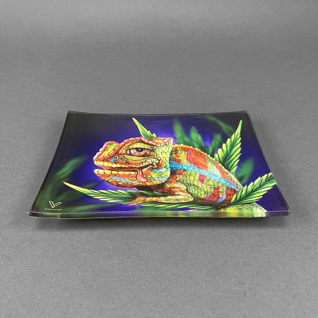 Glass Rolling Tray 'Chameleon'