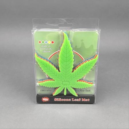 Silly Silicone Leaf Mat