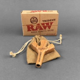 RAW Trident Wooden Spliff Holder