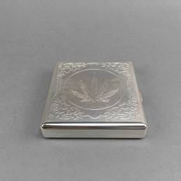 Zigarettendose aus Metall 'Leaf'