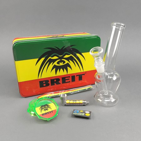 Mini Glasbong Set 'Breit' High