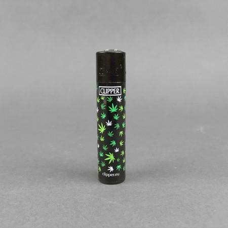 CLIPPER® Feurzeug Favorite Leaf schwarz grün