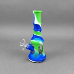 Silikon-Glas Bong Blue