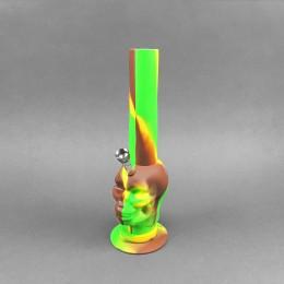 Silikonbong 'Skull' Camouflage grün