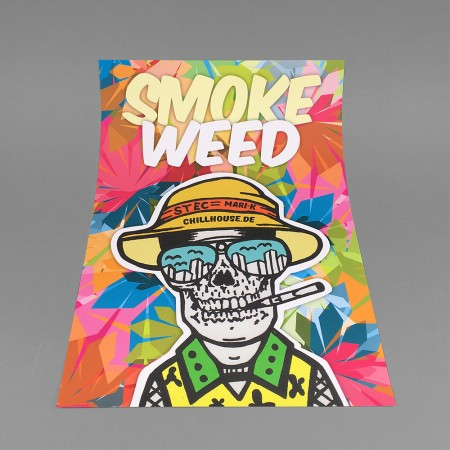 CH Poster 'SMOKE WEED SKULL'