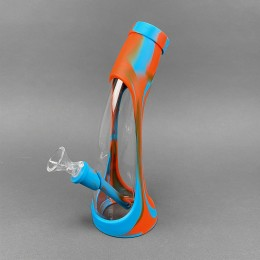 Silikon-Glas Bong Orange Trunk