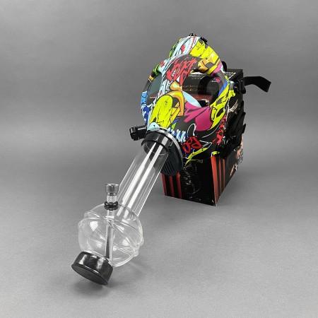 Gasmaskenpfeife mit Acrylbong