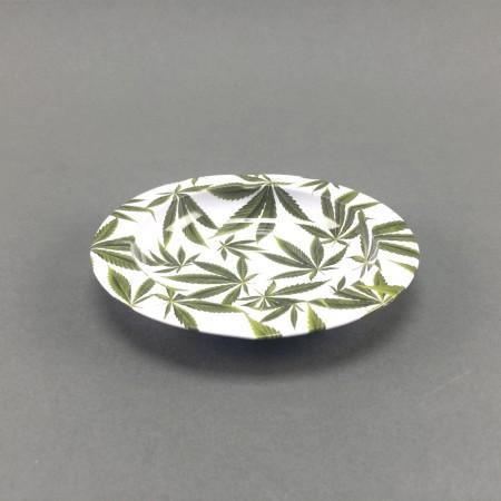 Aschenbecher Metall Leafes