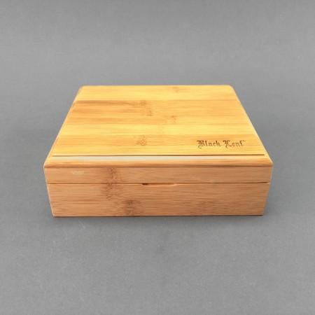 Black Leaf Stoner Box aus Bambus