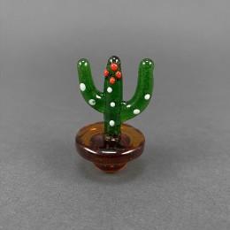 Carb Cap aus Glas 'Kaktus'