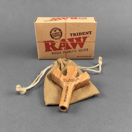 RAW Trident Wooden Spliff Holder