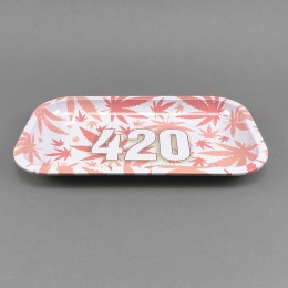 Rolling Tray '420 Pink'