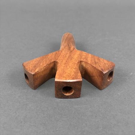 Triple Hole Wooden Spliff Holder